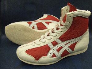 アシックスショートボクシングシューズ アメリカ屋オリジナルカラー赤x白