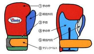 比winning gloves Winning获胜彩色订货尼龙粘链式拳击手套2万4500日元在前后发出从100天到120天吧