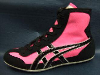pink asics wrestling shoes