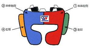 Winning headgear in custom colors 【安全性抜群の当店オススメ品】カラーオーダー ウイニング ヘッドガード練習ヘッドギア