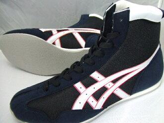 亚瑟士短拳击鞋美国屋原色黑x白加强深蓝