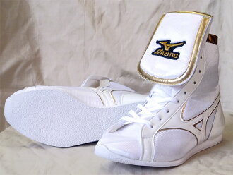 Only as for before Amerikaya original color (white x white line x metal gold edge) Mizuno SP type with original shoes bag containing orchid bird logo, it is type boxing shoes in reply