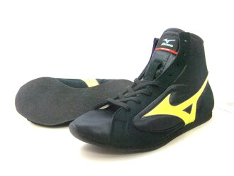 With Mizuno short boxing shoes (our store original black x flash yellow black sole) orchid bird logo original shoes bag containing (boxing article, ring shoes)