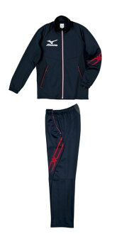 Mizuno colors warm-up top and bottom set mizuno navy X white X red