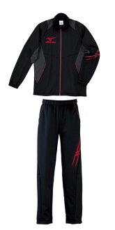Mizuno colors warm-up top and bottom set mizuno black x red