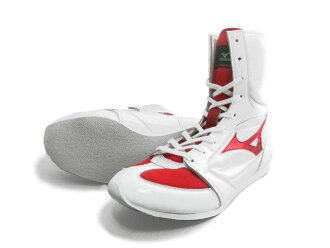 With Amerikaya original color Mizuno boxing shoes (white x metal red line) original shoes bag