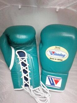 供Winning获胜公式比赛使用的拳击手套(10盎司)绿色