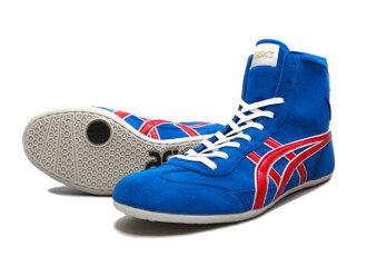 亚瑟士EX-EO摔跤鞋美国屋原色BLUE RED