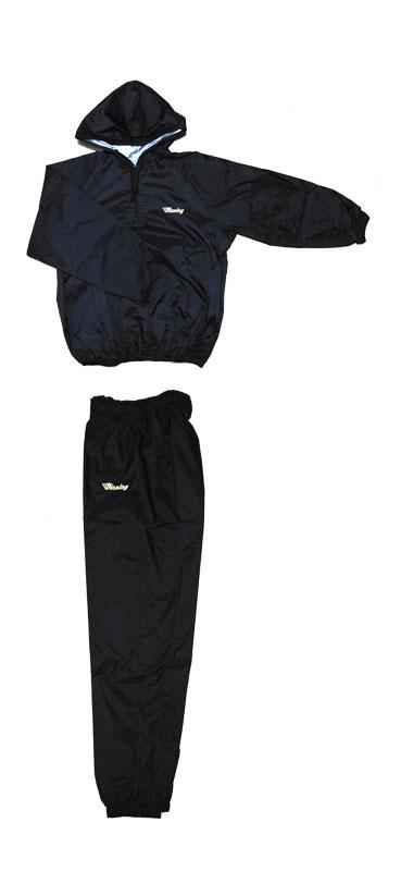 Made in Japan信頼のブランドウイニング アメリカ屋オリジナル 限定 オリジナルフード付減量着(ブラックxゴールドロゴ)上下セット(日本製)