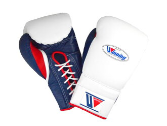 In stock NOW  【LIMITED ITEM・Special price】 Winning 16 oz boxing gloves White x Navy x Red for professional use