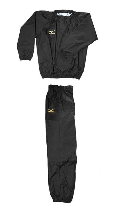 プロボクサー仕様【フードなし限定カラー】MIZUNO当店オリジナル減量着(黒xゴールドロゴ)裏地はシルバーにかわっています。
