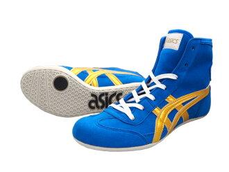 ASICS EX-EO  Wrestling Shoes BLUE x gold   AMERICA-YA original color