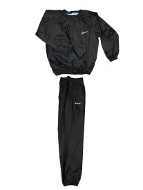 日本製 サウナスーツ・プロボクサーの必需品 アメリカ屋オリジナル減量着上下セットフードのないタイプ黒ホワイトロゴ