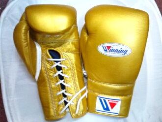 供16盎司黄金Winning获胜练习使用的拳击手套(专业型)