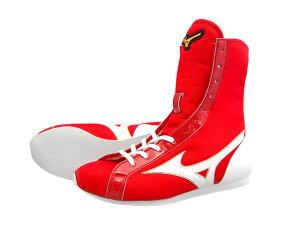 アメリカ屋オリジナルカラー 赤かかと白ミドルカット ミズノボクシングシューズ
