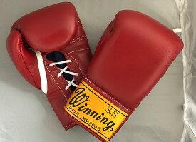 【一部地域を除き送料無料】ウイニング8オンス旧赤 ボクシング グローブレアな旧ロゴゴールドラベル