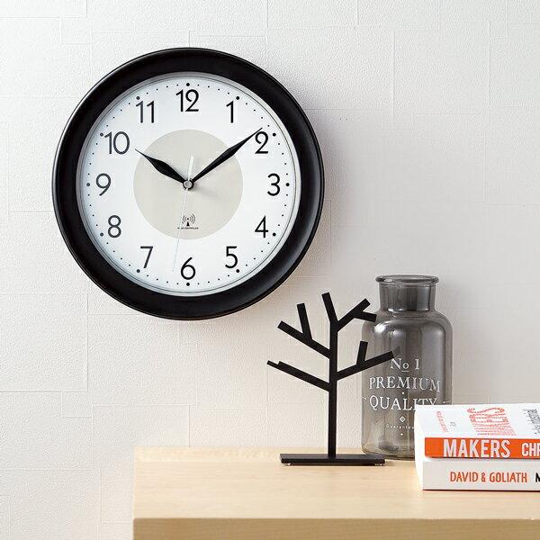 送料無料 ! 電波時計 壁掛け 時刻合わせの手間いらず♪ 1日最多8回電波をキャッチ 夜間 秒針 音 が しない 掛け時計 電波 (検索: クロック インテリア時計 とけい シンプル 景品 プレゼント 電池式 単3電池 ) 送料込 ◇ 壁掛け電波時計 30584