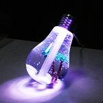 加湿器おしゃれ電球型LEDがカラフルに光る☆超音波加湿器卓上オフィスミスト加湿機USB電源(検索:ボトルシップインテリアカフェディスプレイ置き型日用雑貨パソコン周辺機器)◇電球型超音波式加湿器