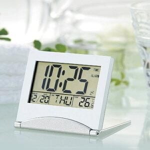 送料無料 !( 規格内 ) アラーム機能 カレンダー機能 温度計 カウントダウン機能 付 電池式 置時計 コンパクトウォッチ スタンド式 卓上時計 まとめ買い (検索: 目覚まし時計 デジタル時計 コ