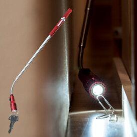 伸びる! マグネット付き LEDライト 伸縮式 ライト 全長38 cm フレキシブルアーム ライト部分に金属がくっつく 暗い隙間 ラクラク 懐中電灯 (検索: 作業灯 棒 磁石 ペン型 アウトドア 乾電池式 非常灯 のび〜る ) まとめ買い ◇ のびーるスマートライトMT