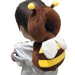 赤ちゃん転倒防止クッションみつばちベビーセーフティークッションリュック型みつばちかわいい頭ガードセーフティグッツ赤ちゃん安全グッズ伸縮ゴム調整可能ベルト便利出産祝いギフトママ割まとめ買い◇転倒防止リュック蜜蜂
