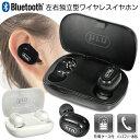 送料無料 !( 定形外 ) ワイヤレスイヤホン Bluetooth5.0 完全ワイヤレス ブルートゥース イヤホン 充電器付 ケース 充…