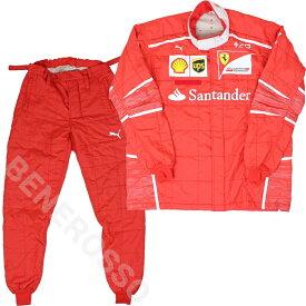 フェラーリ 2017 燃料担当 クルー支給 2ピース レーシング スーツセット ユーズド 専用バッグ付き