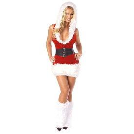 海外ブランド ROMA ローマ クリスマス コスプレ レディース 海外 衣装 サンタ フード付サンタコスチューム2点セット/大人 仮装 パーティー イベント