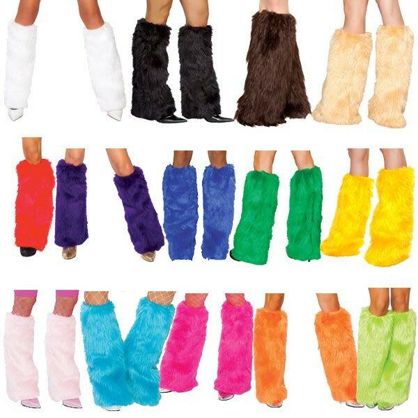 海外ブランド レディース コスチューム ハロウィン衣装小物 コスチュームとお揃いのレッグウォーマー単品 フェイクファー素材