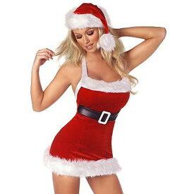 海外ブランド ROMA ローマ クリスマス コスプレ レディース 海外 衣装 サンタ ビルトインベルト付 ミニドレス/大人 仮装 パーティー イベント