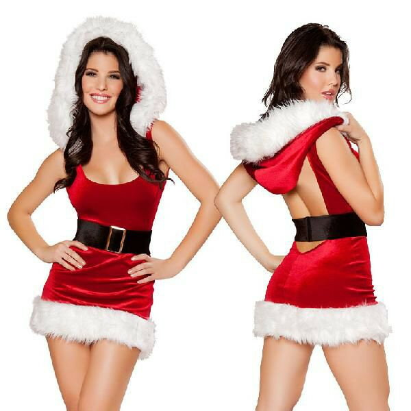 海外ブランド ROMA ローマ クリスマス コスプレ レディース サンタ コスチューム 海外 衣装 赤ベルベット ミニドレス2点セット/大人 仮装 パーティー イベント