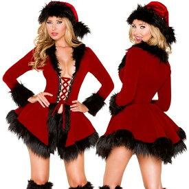 海外ブランド ROMA ローマ クリスマス 海外ブランド レディースファッション コスプレ サンタ コスチューム 衣装 赤ベルベット コート ショーツセット/大人 仮装 パーティー イベント