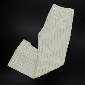 ◆美品◆ インコテックス ストライプ クロップド パンツ size40 [X01644] 【中古】