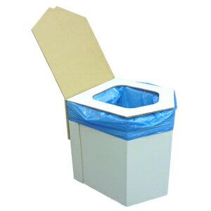 送料無料(一部地域を除く)組み立て式 簡易トイレ【BR-001a ラビン エコ洋式簡易トイレ 】ダンボールトイレ 非常用トイレ