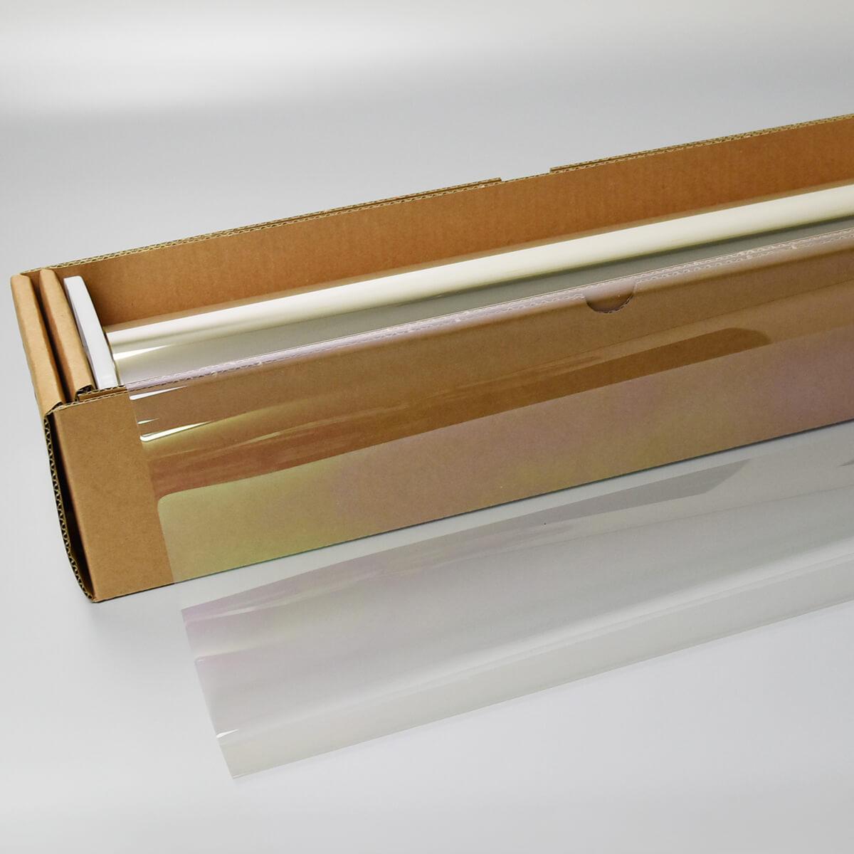 カーフィルム GHOST(ゴースト) オーロラ80  50cm幅 x 30mロール箱売 多層マルチレイヤー オーロラフィルム80 飛散防止フィルム 遮熱フィルム 断熱フィルム UVカットフィルム IR遮断 Braintec