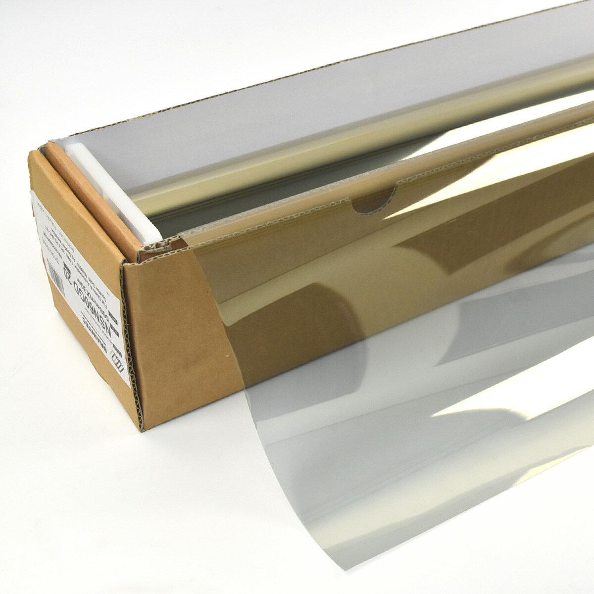 カーフィルム 窓ガラスフィルム スパッタゴールド60(60%) 1m幅×長さ1m単位切売 遮熱フィルム 断熱フィルム UVカットフィルム ブレインテック Braintec