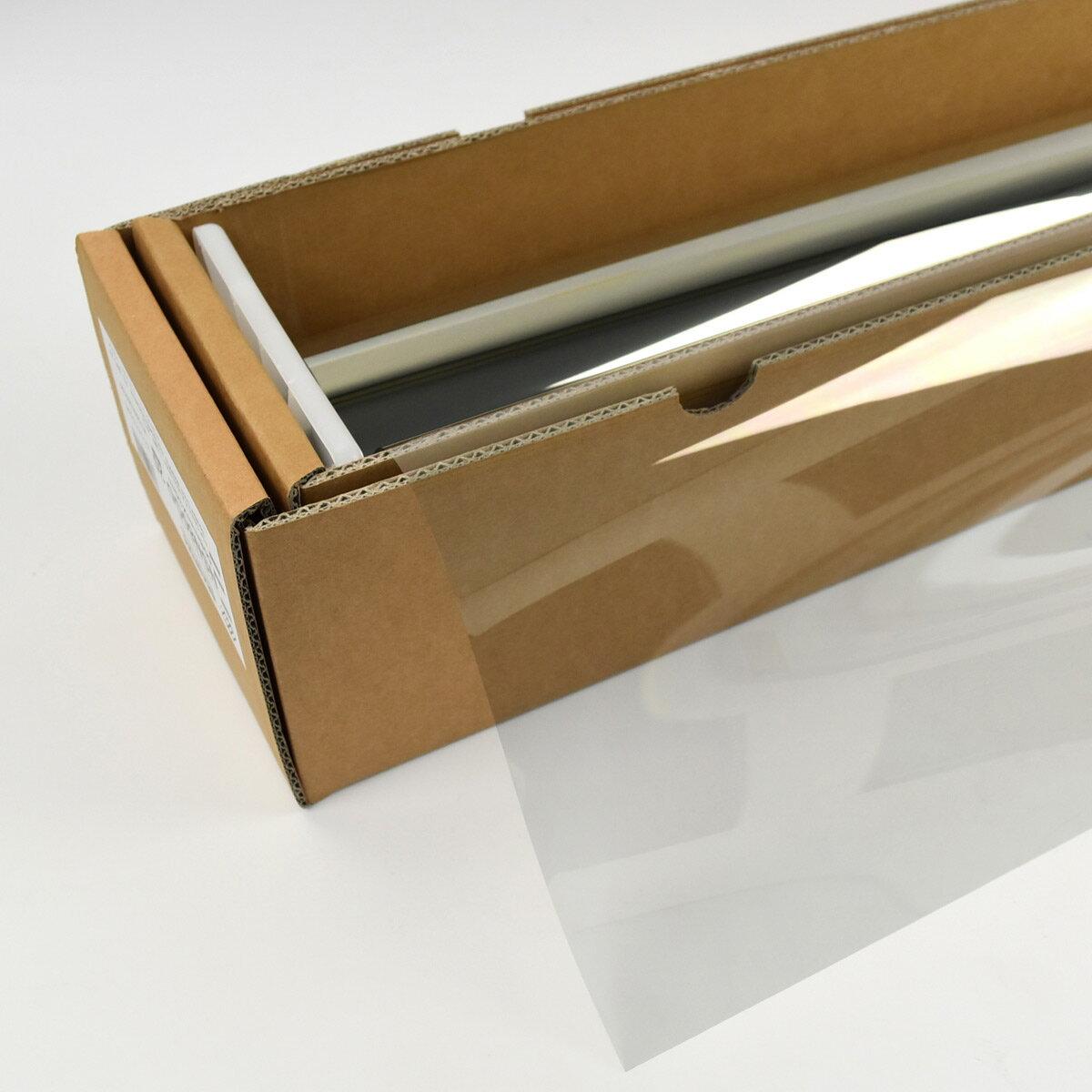 カーフィルム 窓ガラスフィルム スパッタゴールド80(82%) 50cm幅×長さ1m単位切売 遮熱フィルム 断熱フィルム UVカットフィルム ブレインテック Braintec