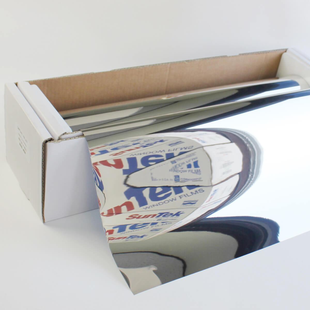 ウィンドウフィルム 窓ガラスフィルムスパッタシルバー05 50cm幅×30mロール箱売 マジックミラーフィルム 遮熱フィルム 断熱フィルム UVカットフィルム ブレインテック Braintec