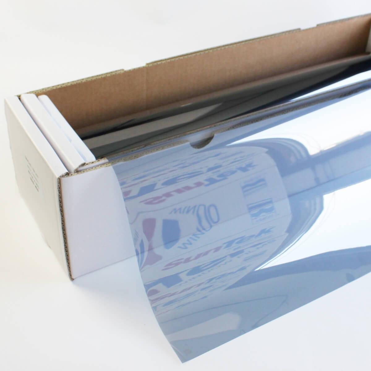 ウィンドウフィルム 窓ガラスフィルムスパッタシルバー50 50cm幅×30mロール箱売 遮熱フィルム 断熱フィルム UVカットフィルム ブレインテック Braintec