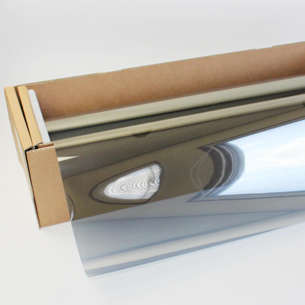ウィンドウフィルム 窓ガラスフィルムスパッタシルバー35 50cm幅×30mロール箱売 マジックミラーフィルム 遮熱フィルム 断熱フィルム UVカットフィルム ブレインテック Braintec