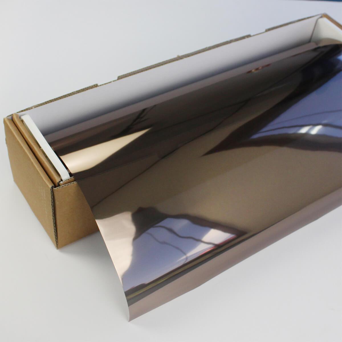ウィンドウフィルム 窓ガラスフィルム SPブロンズメタル20(22%) 50cm幅×30mロール箱売 ミラーフィルム 遮熱フィルム 断熱フィルム UVカットフィルム ブレインテック Braintec