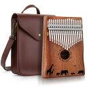 【期間限定2,000円OFF】日本から発送 AGPTEK 17キー カリンバ 鞄付き 皮革製鞄 アフリカ 9セット 親指ピアノ Kalimba …