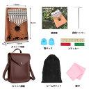 【期間限定】日本から発送 AGPTEK 17キー カリンバ 鞄付き 皮革製鞄 アフリカ 9セット 親指ピアノ Kalimba レザー製鞄…