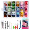 送料無料 刺繍糸 セット 100色 刺繍針 刺しゅうツール付き 長い 刺しゅう糸 糸巻き板 ミサンガ 組みひも 収納ボックス…