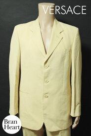 ジャンニ ヴェルサーチ GIANNI VERSACE COUTURE クチュール シルク混 3B シングル スーツ size50 ベージュ メンズ【中古】【送料無料】