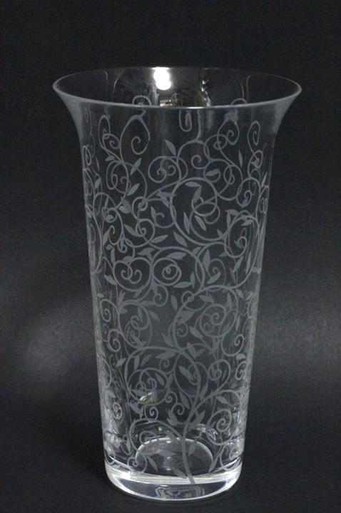 【スーパーセール】Baccarat バカラ ルネサンス調 模様 フラワーベース クリスタル 花瓶【中古】ホーム インテリア【2点以上同時購入で送料無料】
