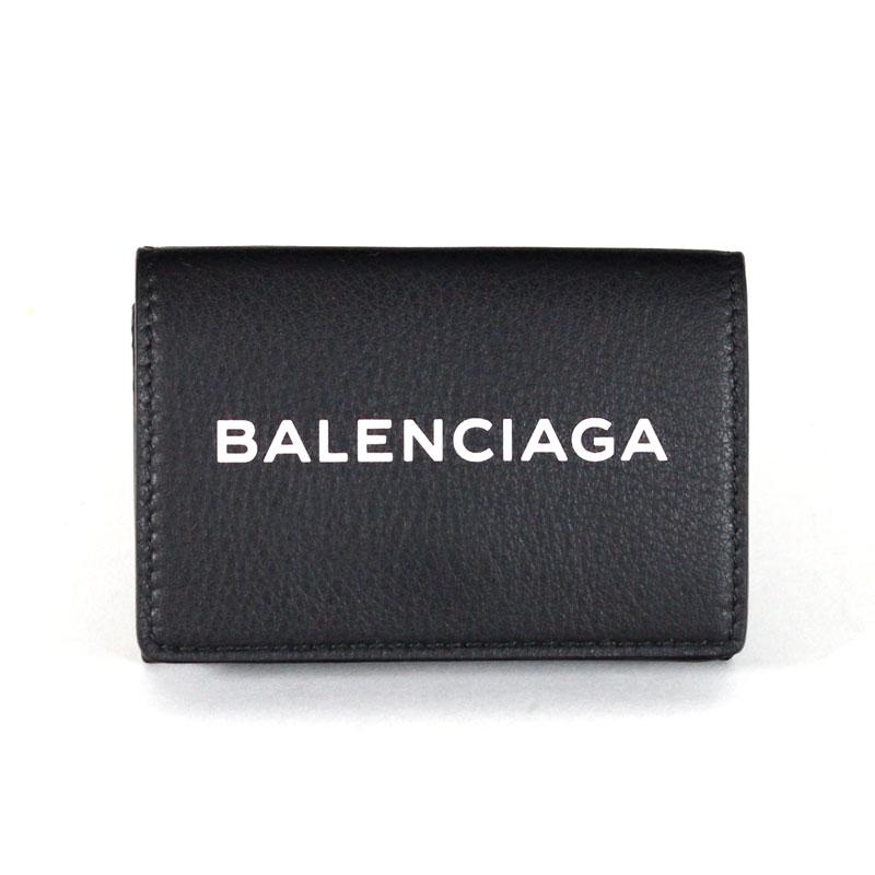 バレンシアガ BALENCIAGA ミニ財布 三つ折り財布 小銭入れ有り エブリデイミニウォレット ノアール ブラック 黒 カーフスキン EVERYDAY MINI WALLET 505055 DLQHN 1060