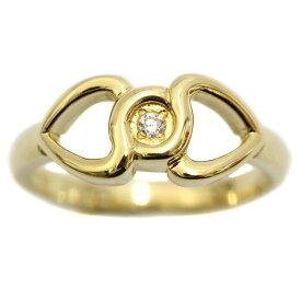 【中古】Christian Dior クリスチャンディオール ダイヤモンド デザイン リング・指輪 レディース 8.5号 イエローゴールド K18ゴールド ジュエリー 【新品仕上げ済み】