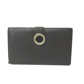 8558a6198e3d ブルガリ 二つ折り 長財布 財布 レザー 黒 ブラック メンズ ボタンフォック 赤 レッド コローレ 男性