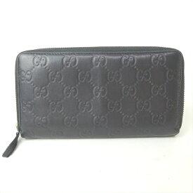 bb1ea328b8cf グッチ 長財布 財布 ラウンドファスナー グッチシマ 307987 型押し ブラック 黒 メンズ レディース グッチ 長